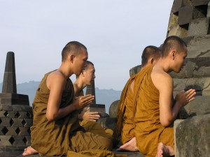 Monks at Borobudur