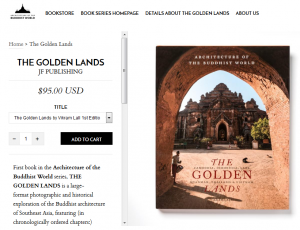 Online cart page for The Golden Lands book
