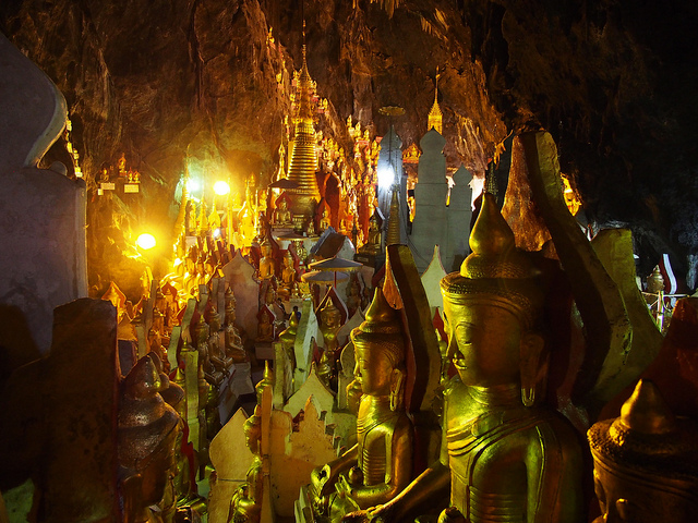 Pindaya caves in Myanmar