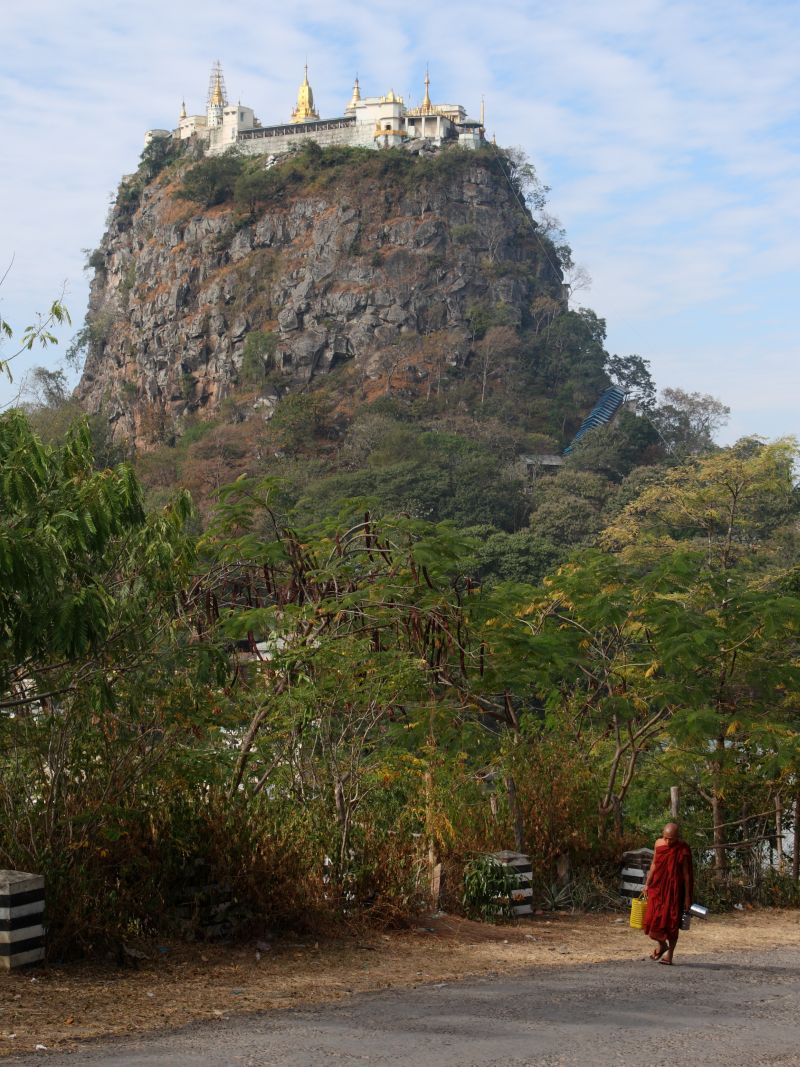 Buddhist monastery on Taung Kalat southwest of Mount Popa