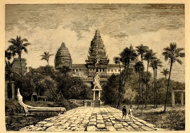 A drawing of Angkor Wat from May 15, 1826 by Henri Mouhot a French naturalist and explorer of the mid-19th century