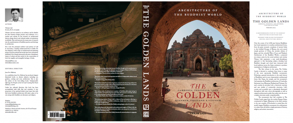 The Golden Lands book cover front and rear.