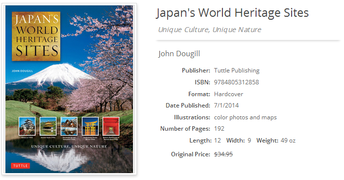 Japan's World Heritage Sites; ISBN 9784805312858