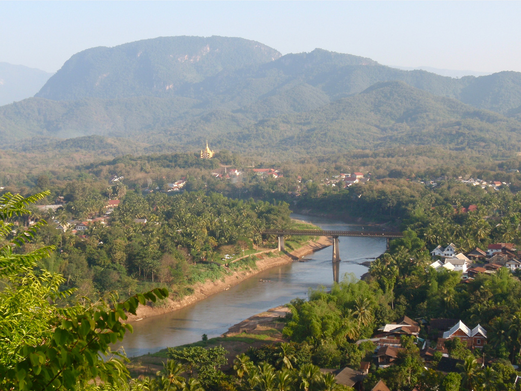View of Nam Khan River from Phu Si