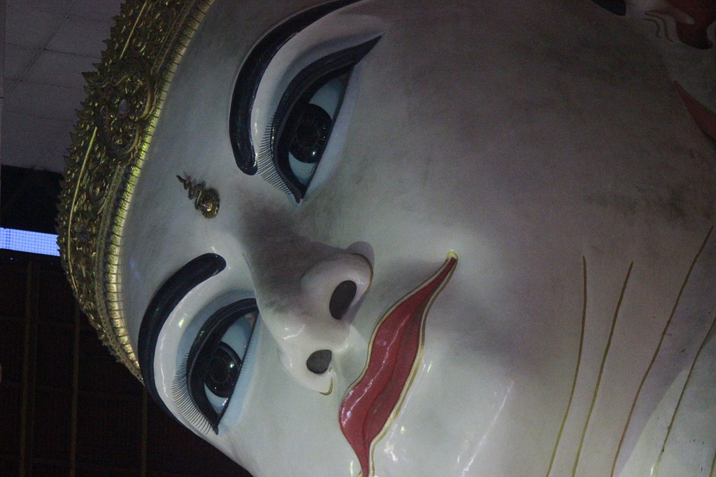 Close up view of Chauk Htat Gyi Buddha Image - photo by Grace