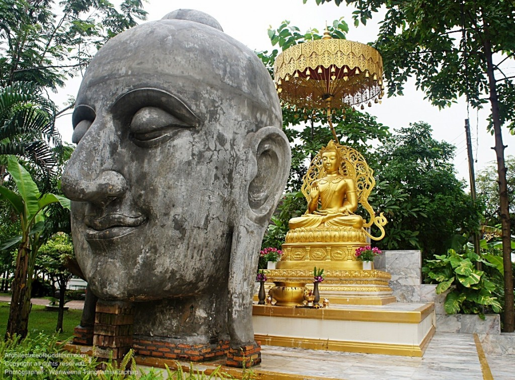 Buddha image in front of vipassana area