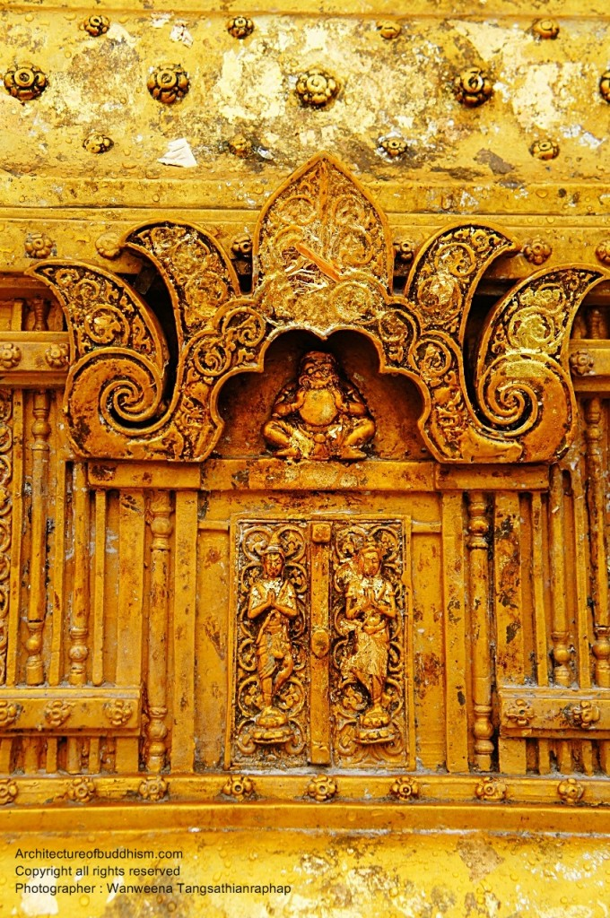 Front chedi gate decoration