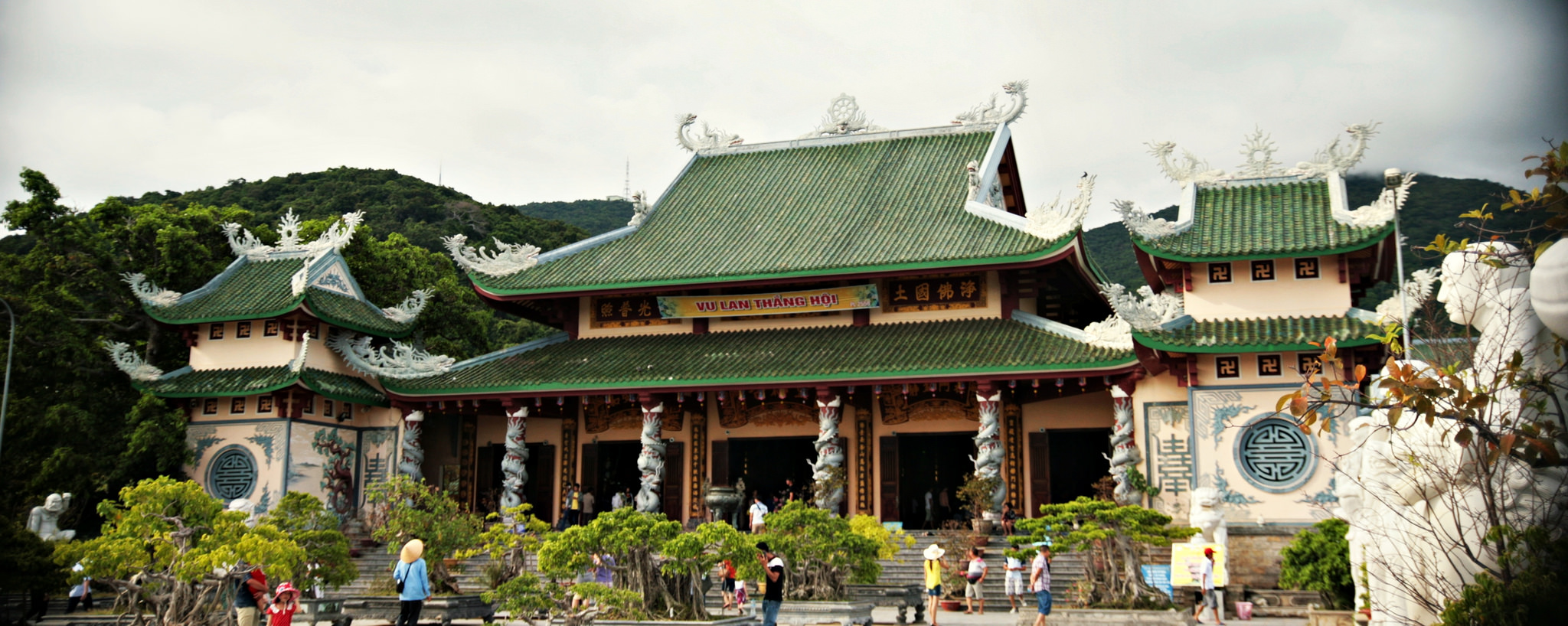 temple at Linh Ung Pagoda, Vietnam