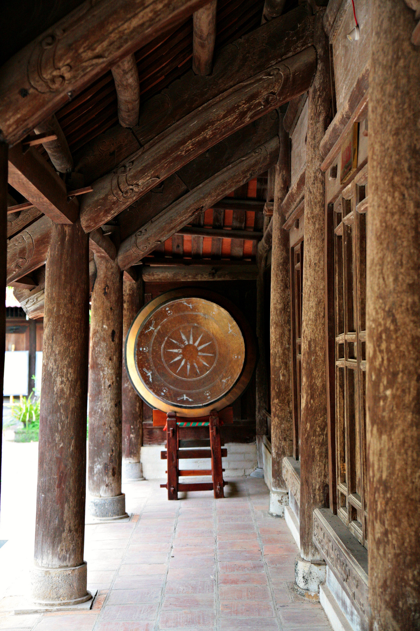 Buddhist drum at Duc La Pagoda, Vietnam