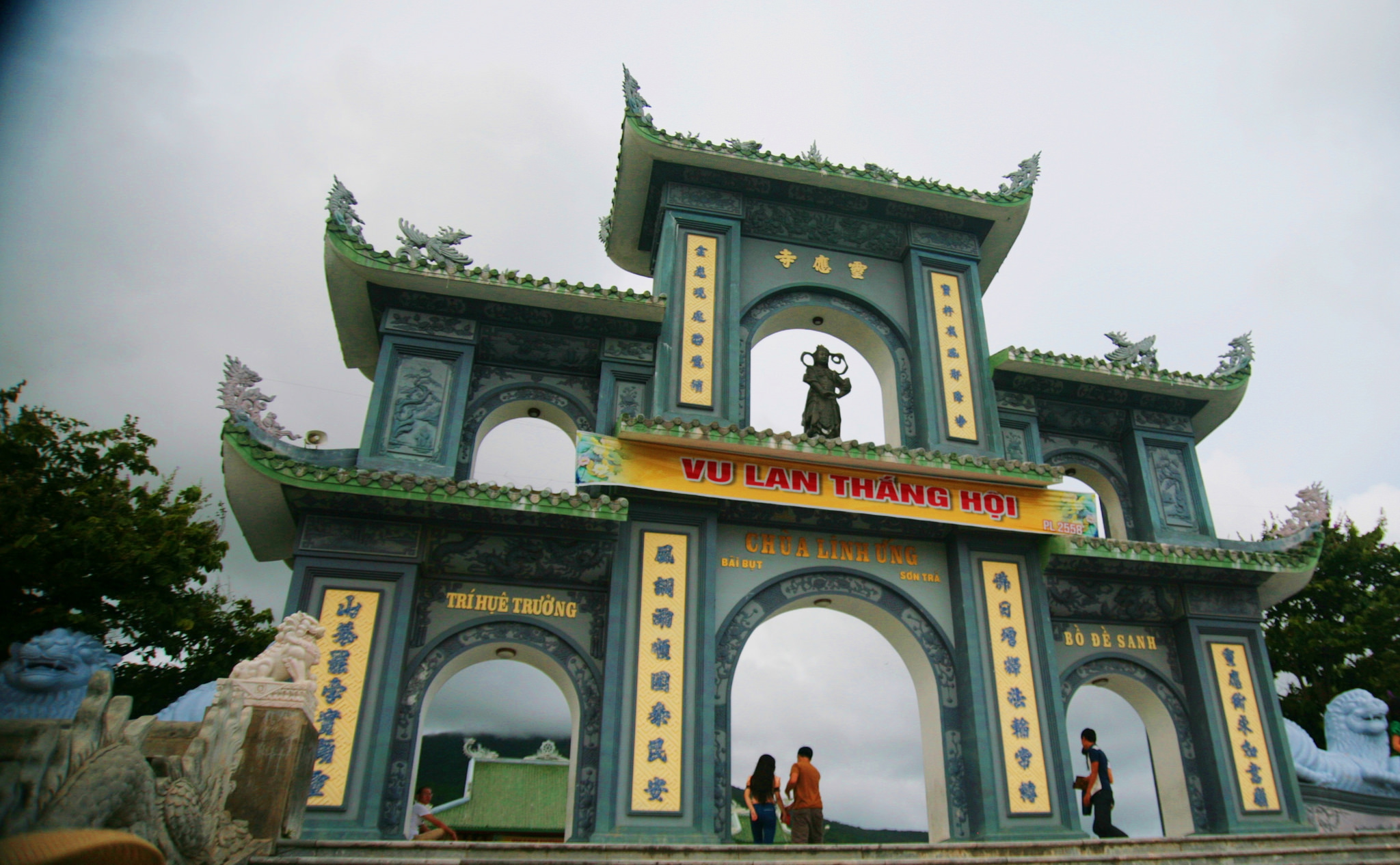 impressive gateways at Linh Ung Pagoda, Vietnam