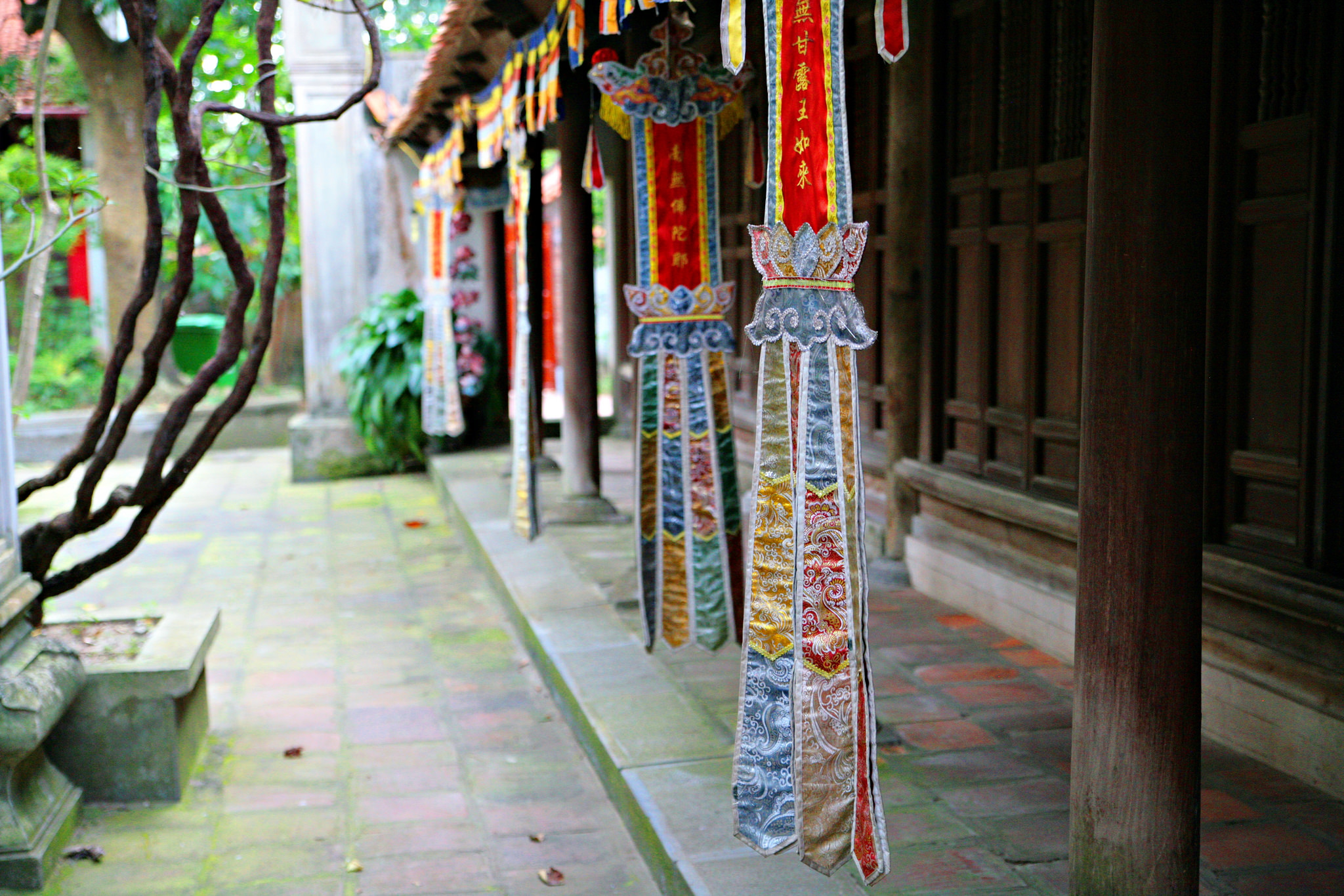 Hanging decorations at Duc La Pagoda, Vietnam