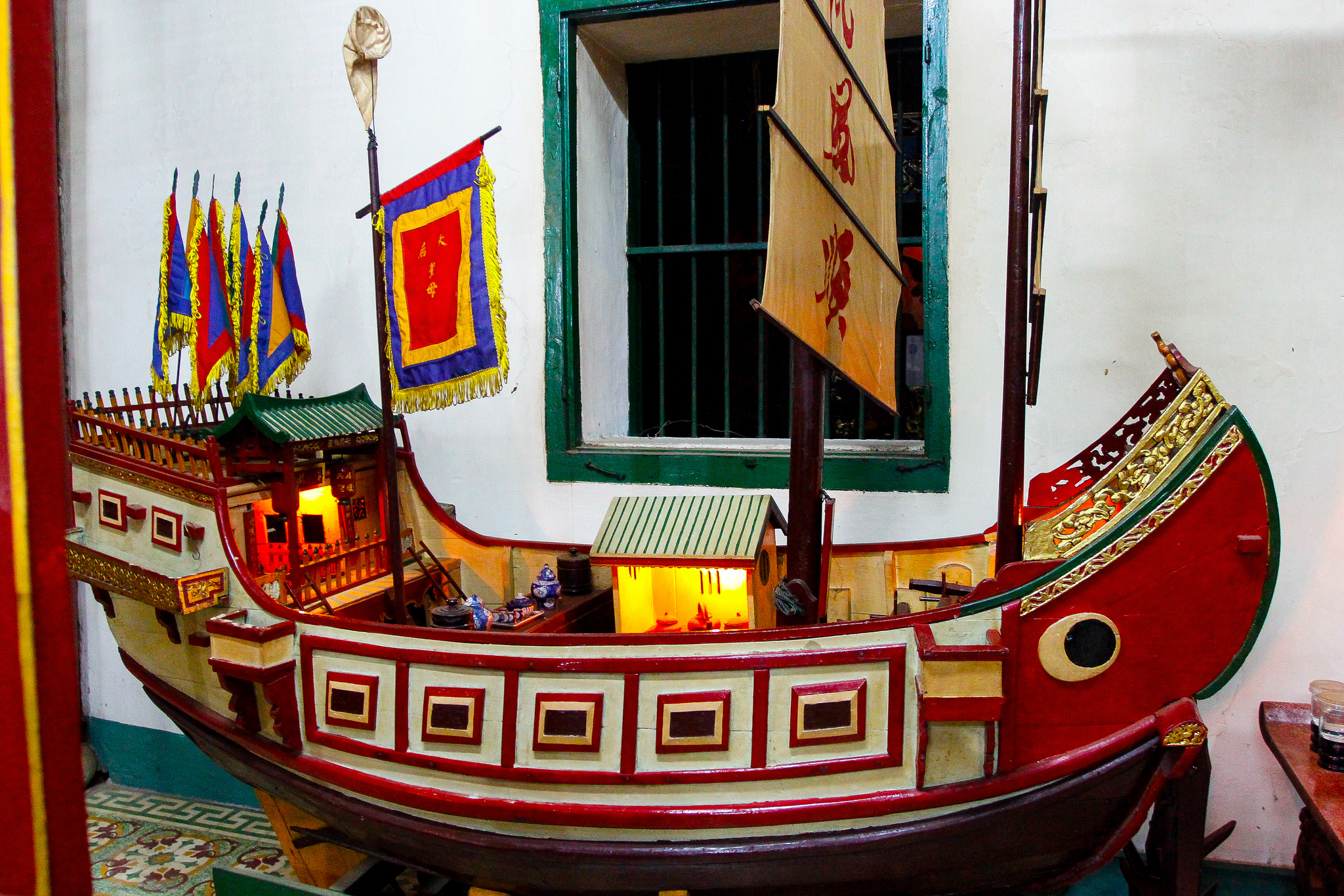 Chinese boat model at Phuoc Kien Assembly Hall, Vietnam