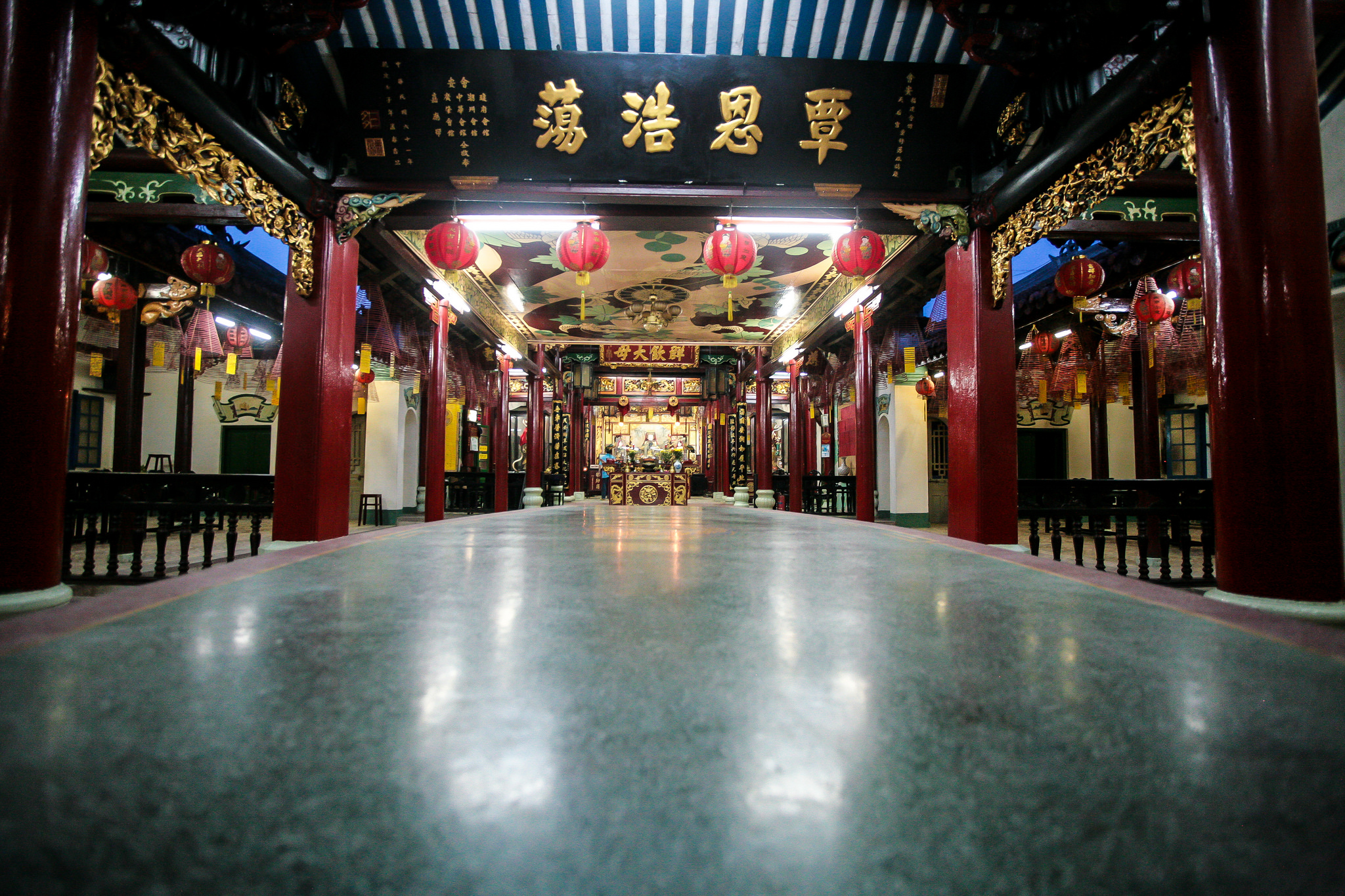 The interior of Phuoc Kien Assembly Hall, Vietnam