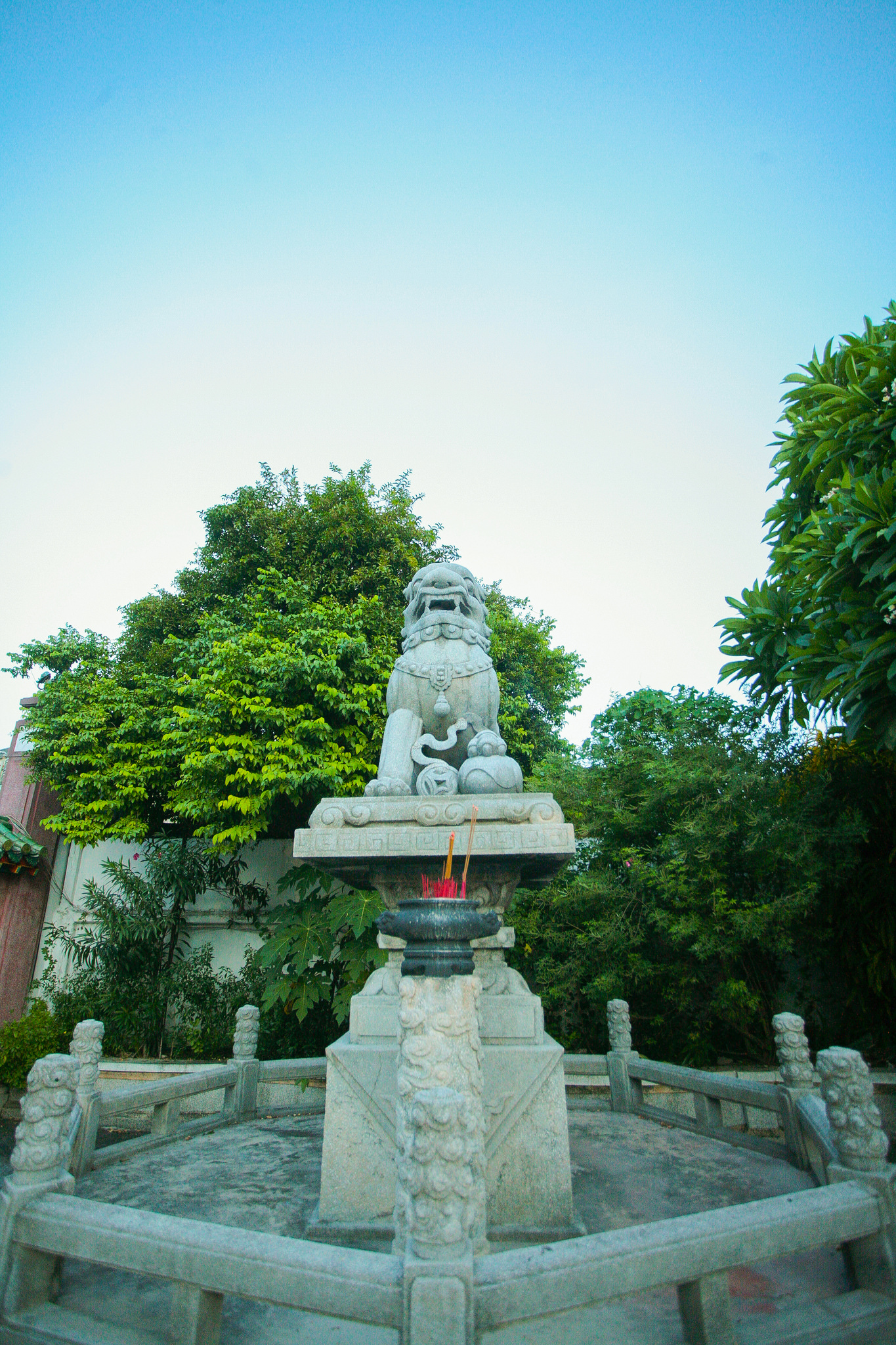 Chinese lion statue at Phuoc Kien Assembly Hall, Vietnam