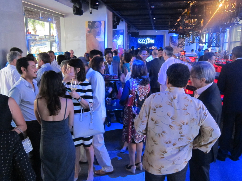 In Kuala Lumpur, friends of the author and publisher packed the exclusive cocktail bar Aloft Sentral