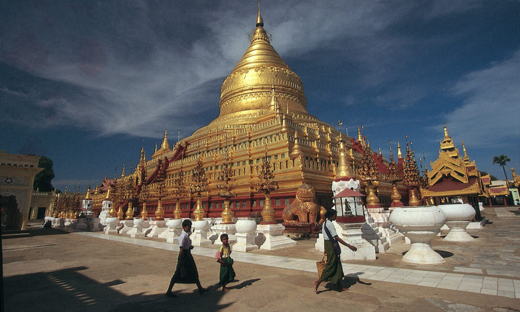 Shwezigon Pagoda, in Nyaung-U, a town near Bagan (Photo copyright Pandaw River Expeditions)