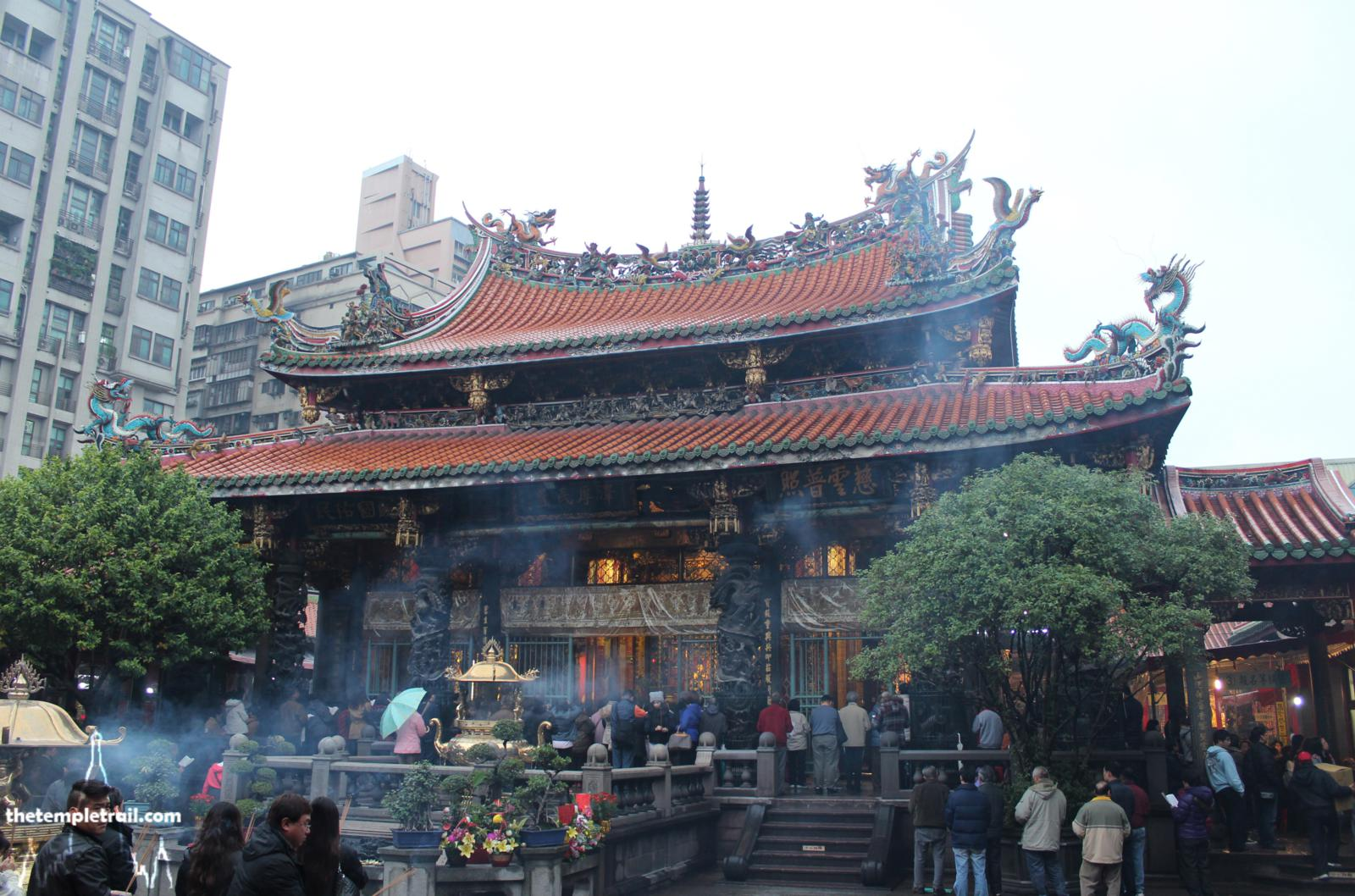Manka Lungshan Temple, Taipei. In Chinese temples, check what the rules are about photography: often not allowed inside.