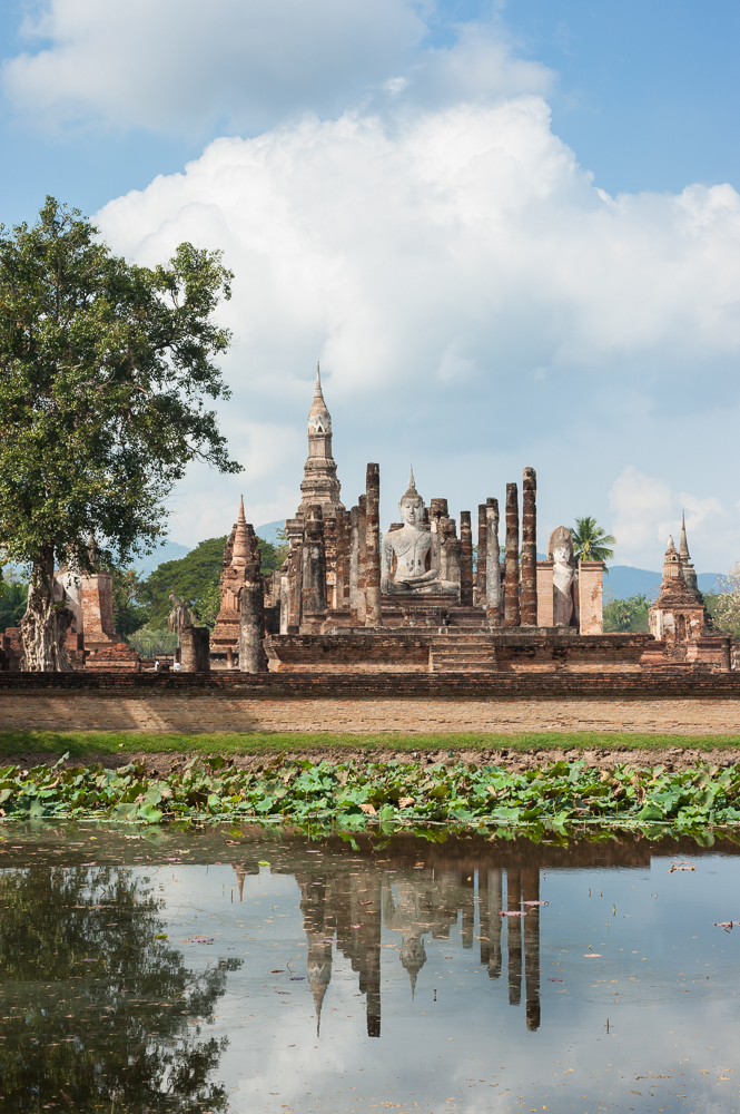 Wat Mahathat, Sukhothai, Thailand - photograph by Marc Schlossman for The Golden Lands